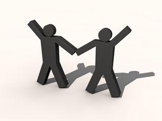 Stock-handshake
