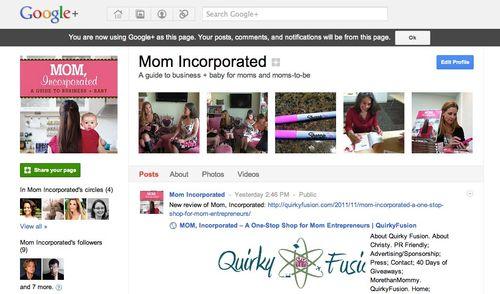 Mom Incorporated - Google+