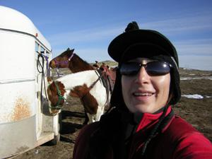 Aliza and horses