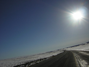 Wyoming highway to Farson, Wyoming